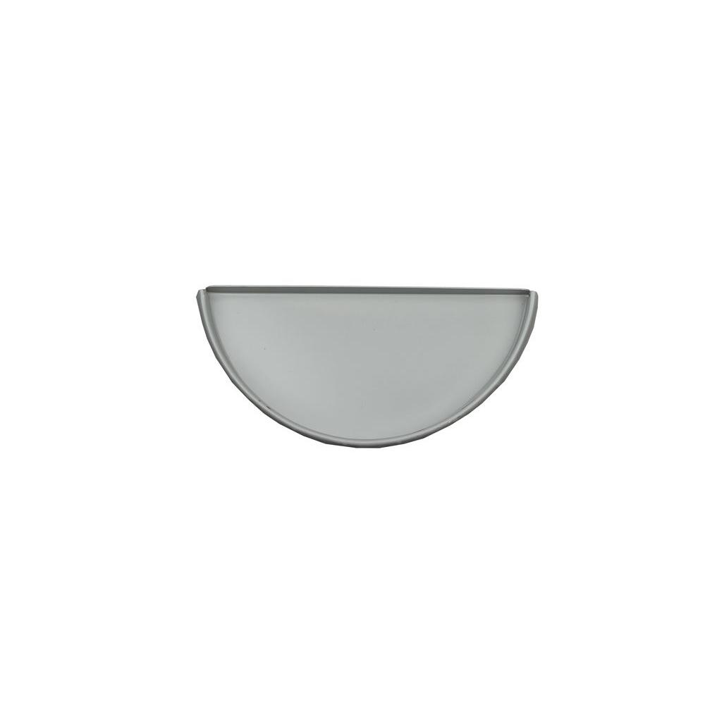 6 in. Half Round Pearl Gray Aluminum Gutter End Cap