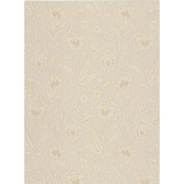 Brewster 8 in. x 10 in. Torcello Beige Floral Wallpaper Sample