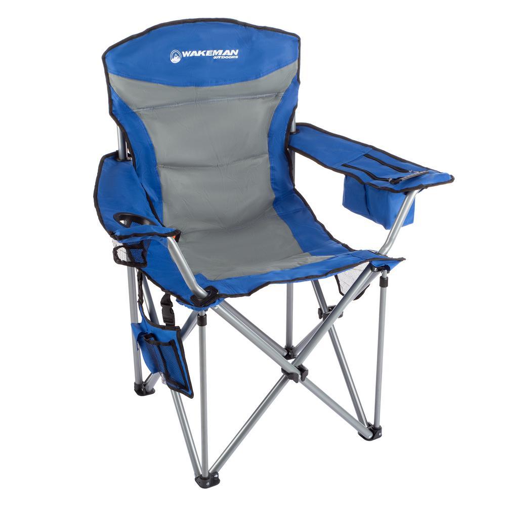 850 lbs. Capacity Blue Heavy-Duty Camping Chair