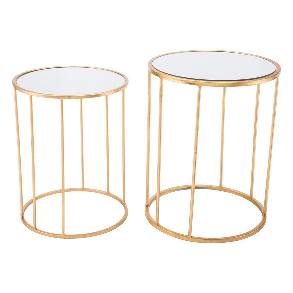 Finita Gold Nesting Round Tables (Set of 2)