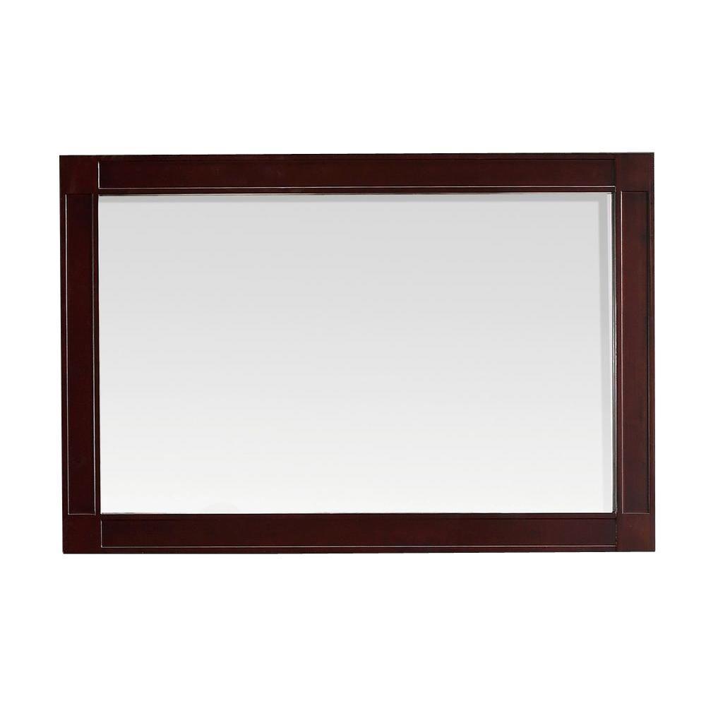 Bella 24 in. L x 36 in. W Framed Wall Mirror in Tobacco