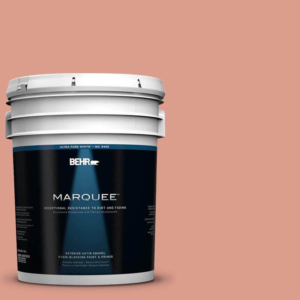 BEHR MARQUEE 5-gal. #210D-4 Medium Terracotta Satin Enamel Exterior Paint