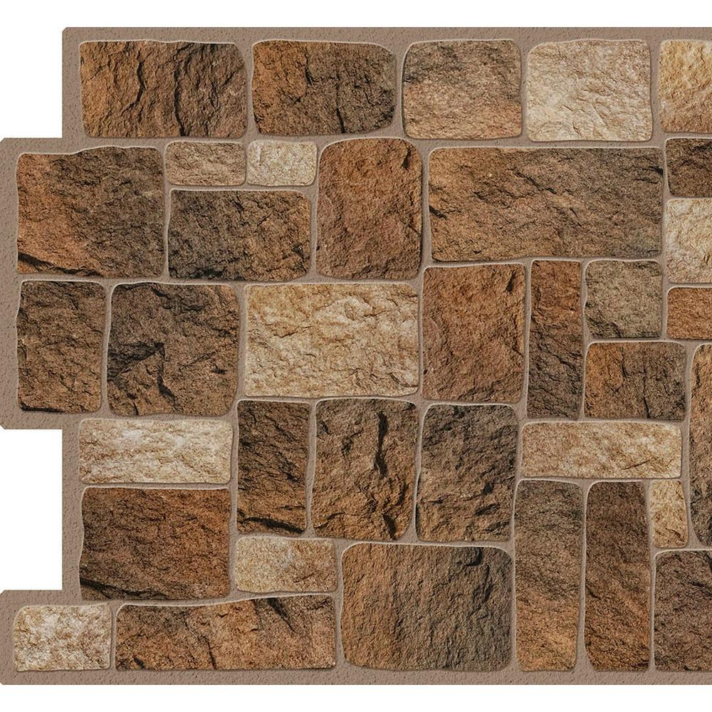 Dundee Deco Falkirk Crest 3D 1/8 in. x 38 in. x 19 in. Brown, Beige Cut Stone PVC Wall Panel, Brown/Beige was $35.99 now $25.98 (28.0% off)