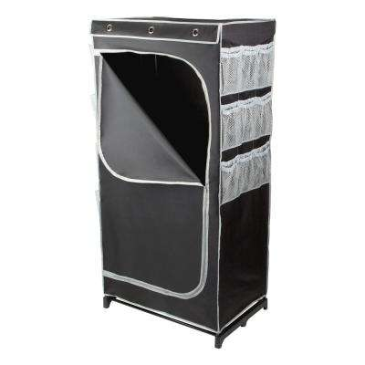 30 in. x 60 in. Black Portable Wardrobe