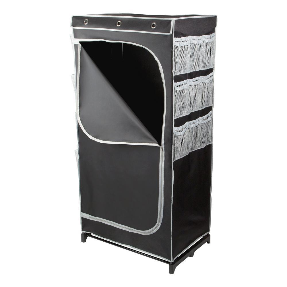 30 in. x 60 in. Black Portable Wardrobe