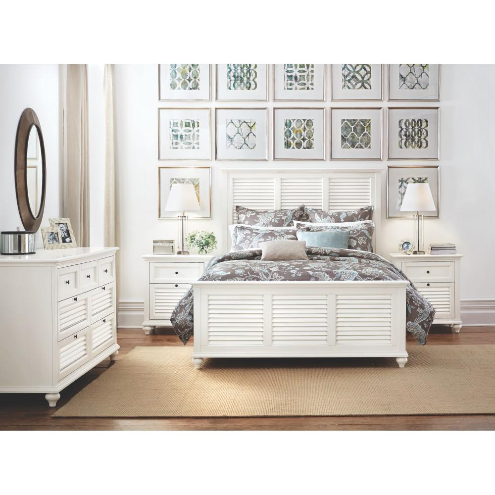 Hamilton 2-Drawer White Nightstand
