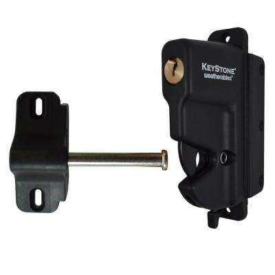 Keystone Black Nylon Polymer 1-Sided Key-Lockable Gate Latch