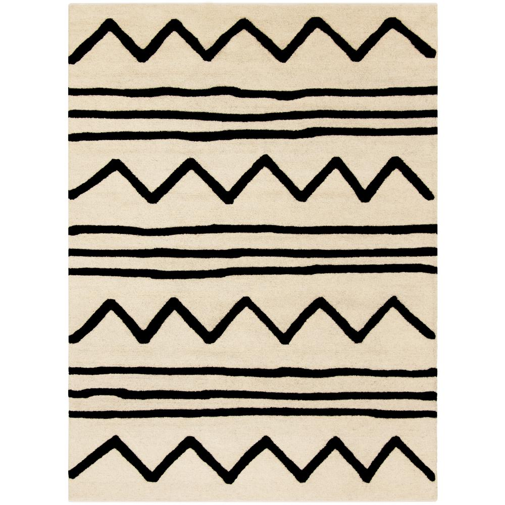 Kids Ivory/Black 5 ft. x 7 ft. Area Rug