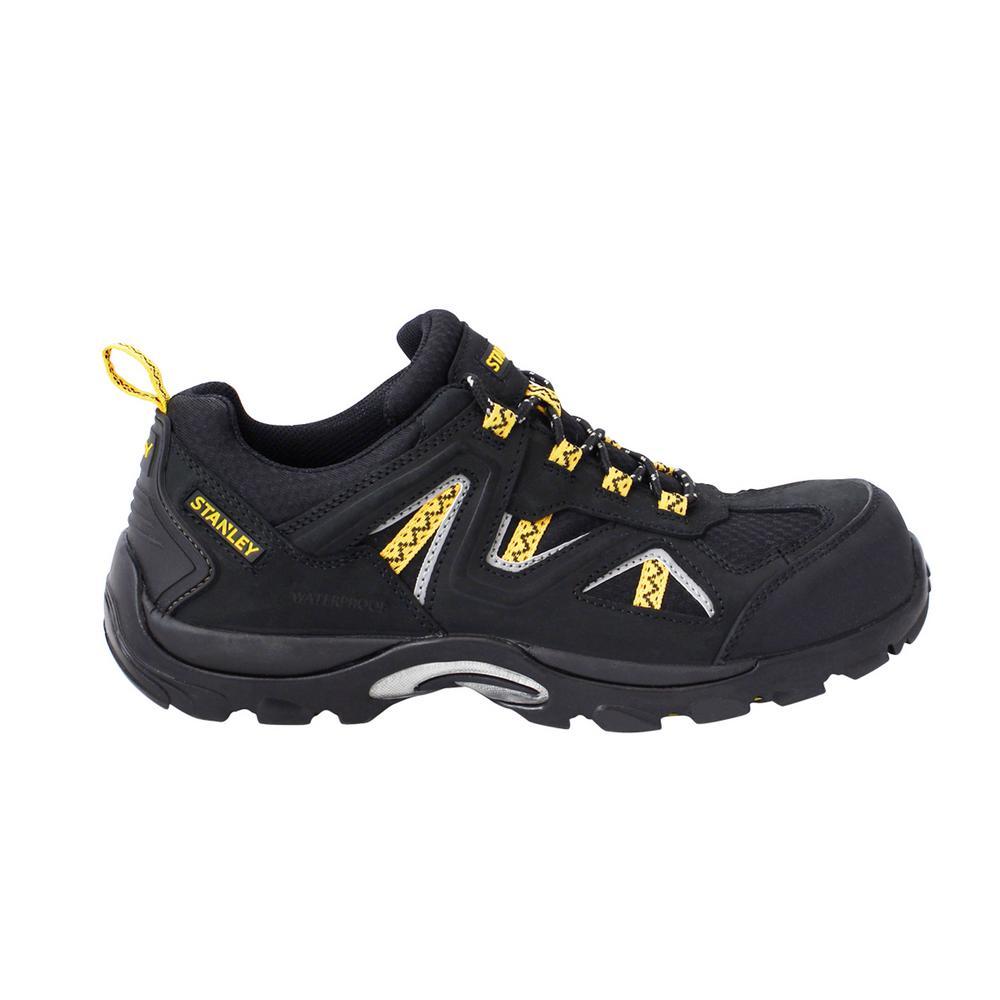 Trench Low Men Size 7.5 Black Leather/Mesh Composite Toe Waterproof Work Shoe