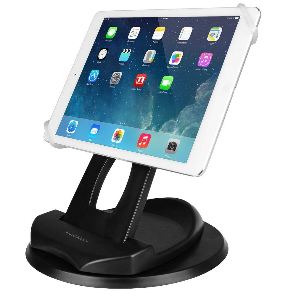 Macally 2-In-1 Swivel Desk Stand and Hand Strap Holder for Most ...