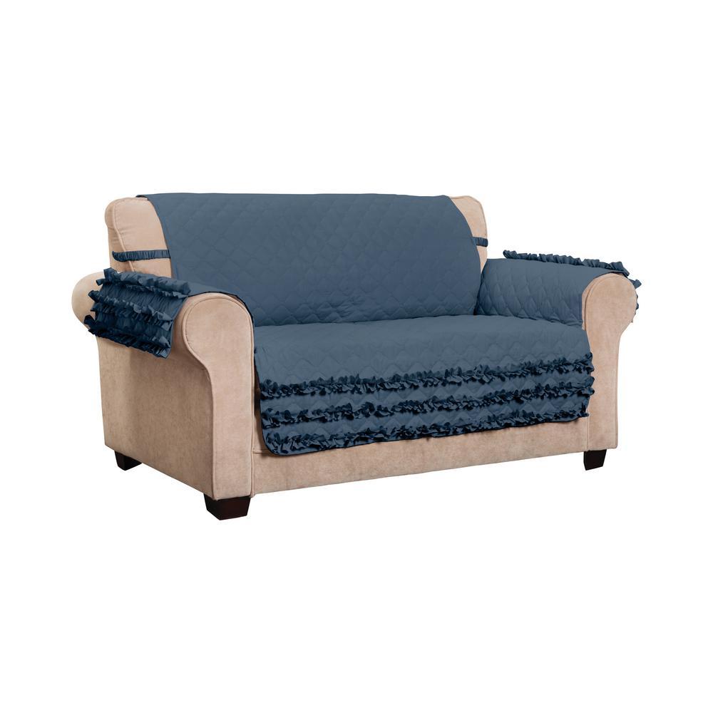 Claremont Ruffled Loveseat Furniture Cover