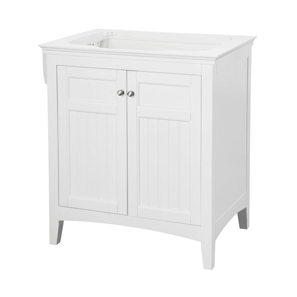 Pegasus Carrabelle 30 in. Vanity Cabinet Only in White