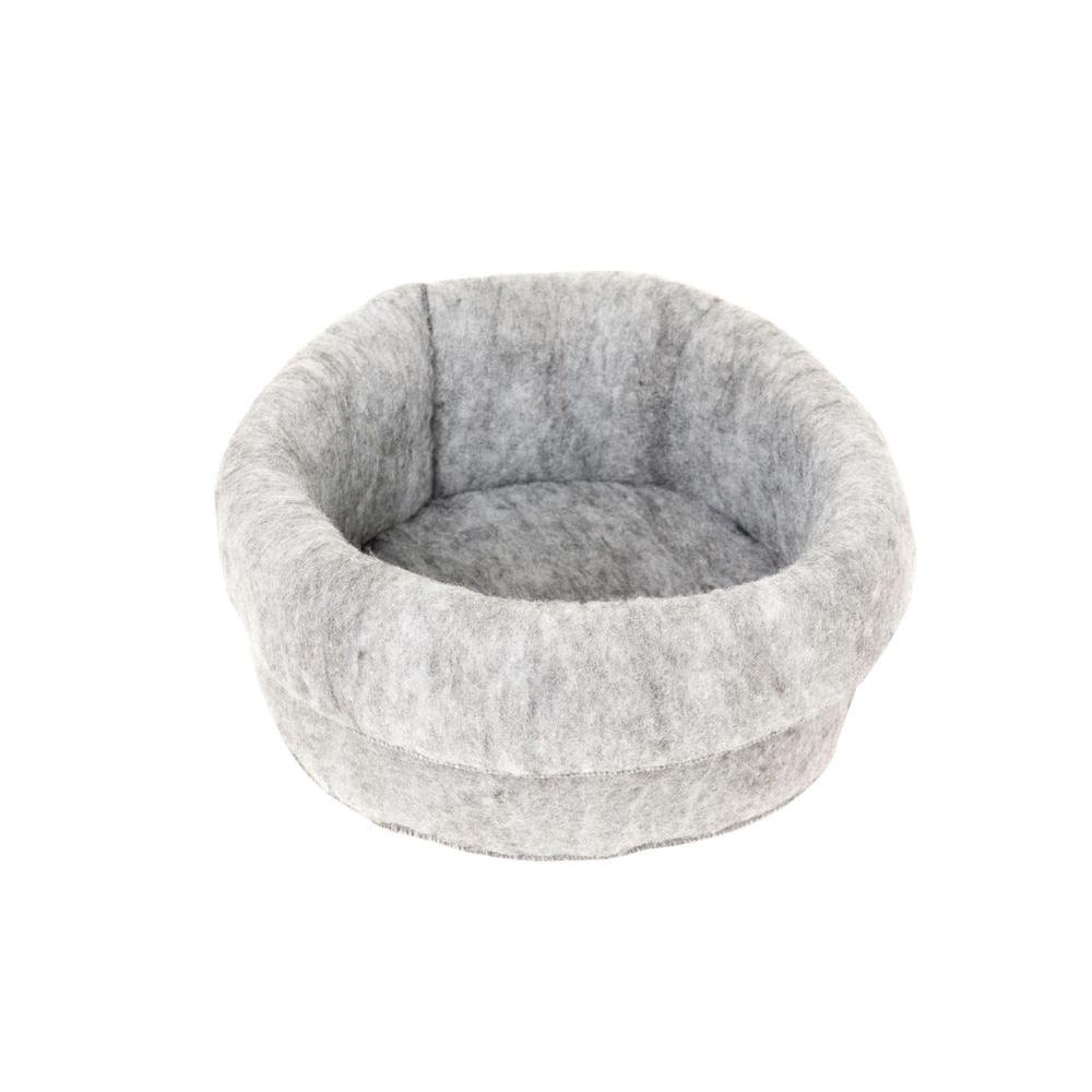 Mysterious Kitty Kup Medium Charcoal Bed