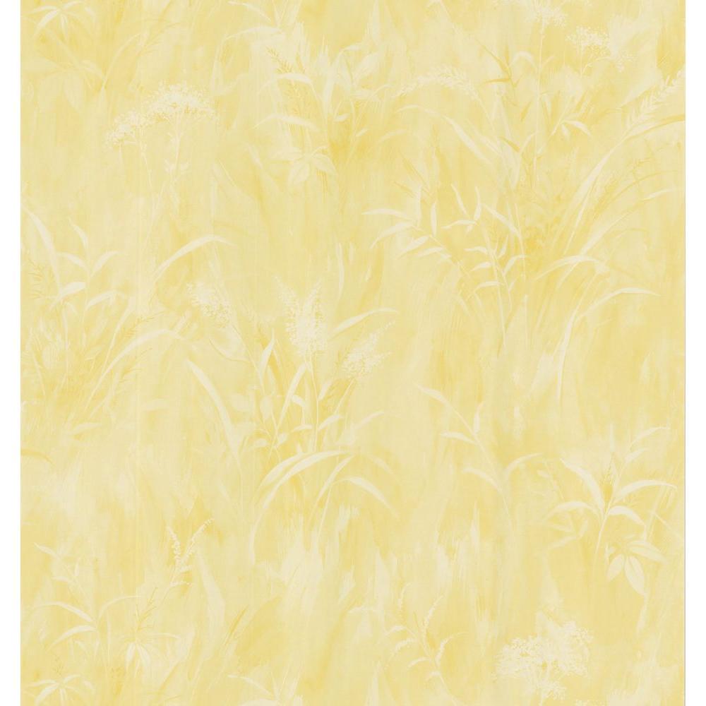 Simple Space Sunshine Washy Leaf Print Wallpaper Sample