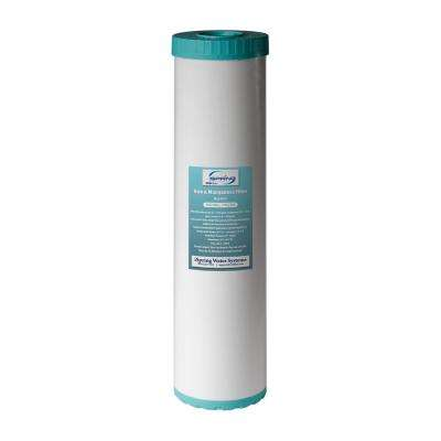 123 Filter Iron Manganese Reducing Replacement Water Filter, High Capacity 4.5 in. x 20 in. Big Blue