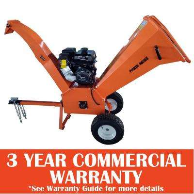 4 in. 14 HP Gas Powered Chipper Shredder with Removable Tow Hitch Bar