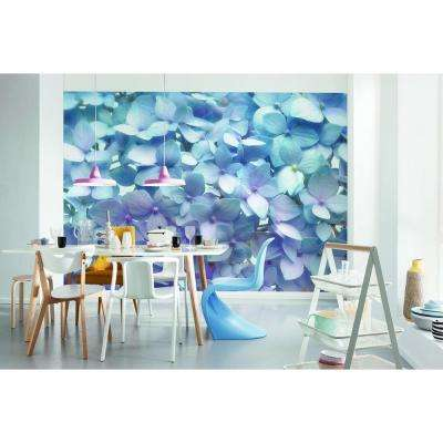 100 in. H x 145 in. W Light Blue Wall Mural