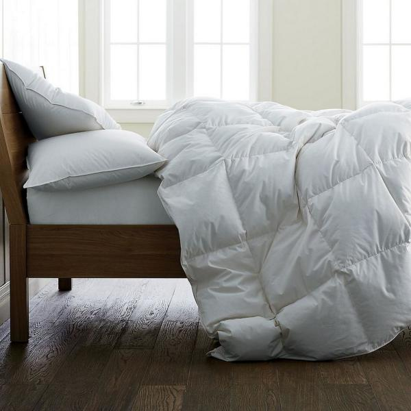 Organic Light Warmth White Queen Down Comforter