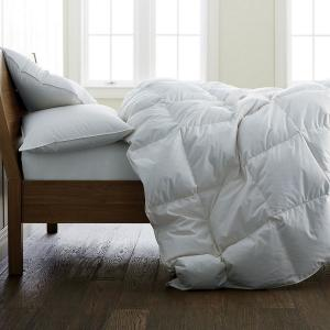 Ultra Warmth White King Down Comforter with Organic Cotton Cover