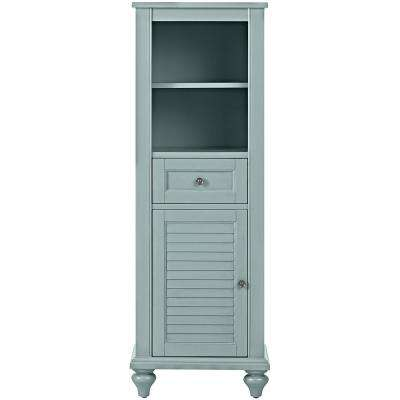 Hamilton 18 in. W x 53 in. H x 14 in. D Bathroom Linen Storage Cabinet in Sea Glass