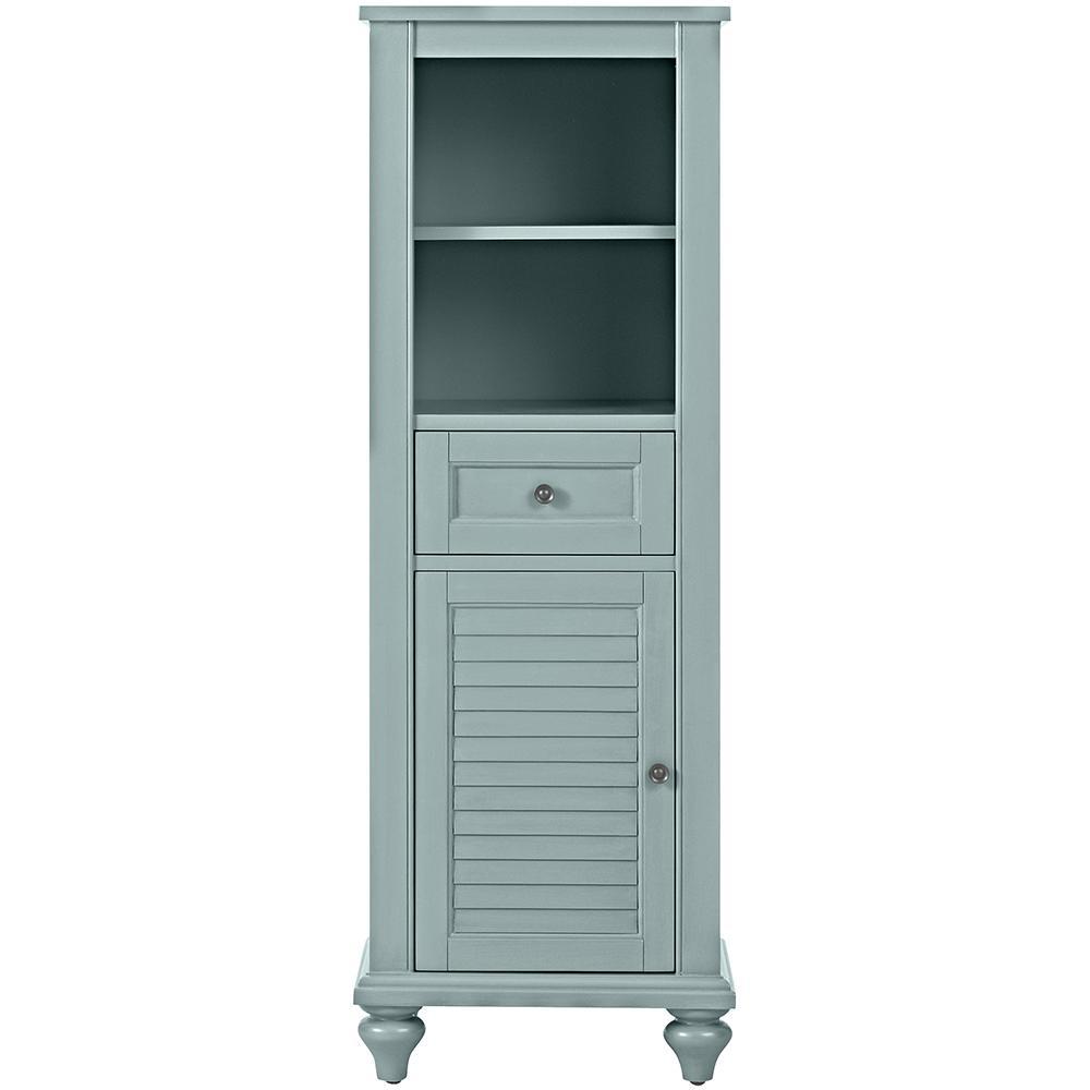 Hamilton 18 in. W x 53 in. H x 14 in. D Bathroom Linen Storage Cabinet in Sea Glass