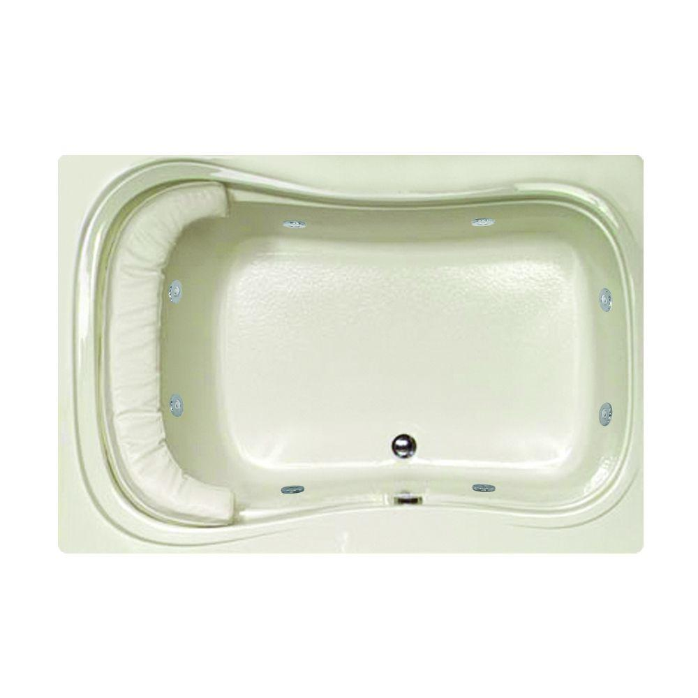 Hydro Systems Lancing 5 ft. Reversible Drain Whirlpool and Air Bath Tub in Biscuit