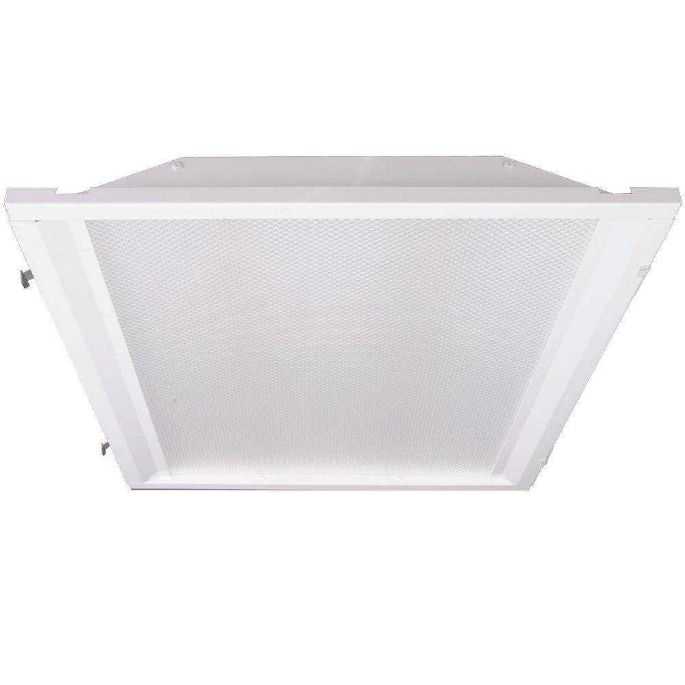 EcoLightingbyDSI Eco Lighting by DSI 2 ft. x 2 ft. White Retrofit Recessed Troffer with LED Lighting Kit for Fluorescent Fixtures