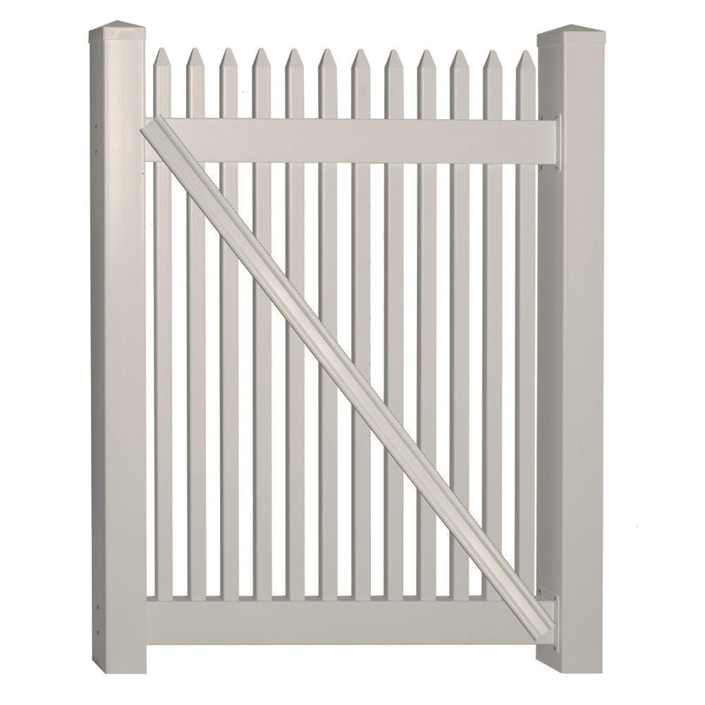 Hartford 4 ft. W x 3 ft. H Tan Vinyl Picket