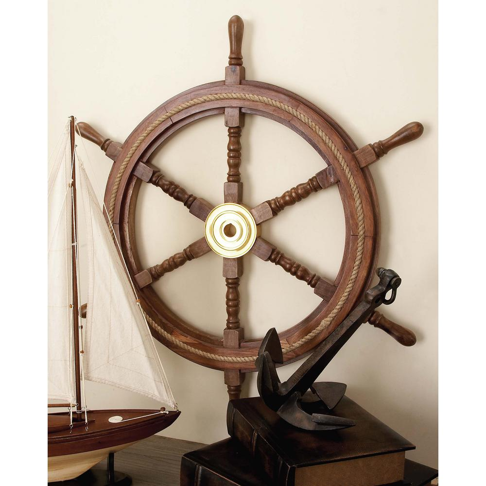 Rosewood Shipwheel Wall Decor
