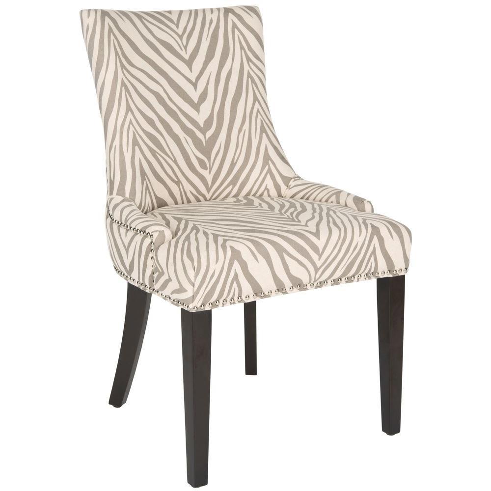 Safavieh Lester Grey Zebra Cotton Linen