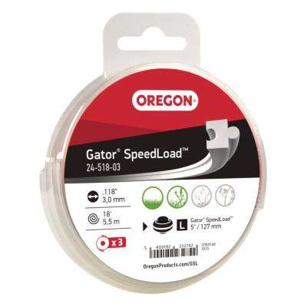0.118 in. Gator SpeedLoad LG Trimmer Line (3-Pack)