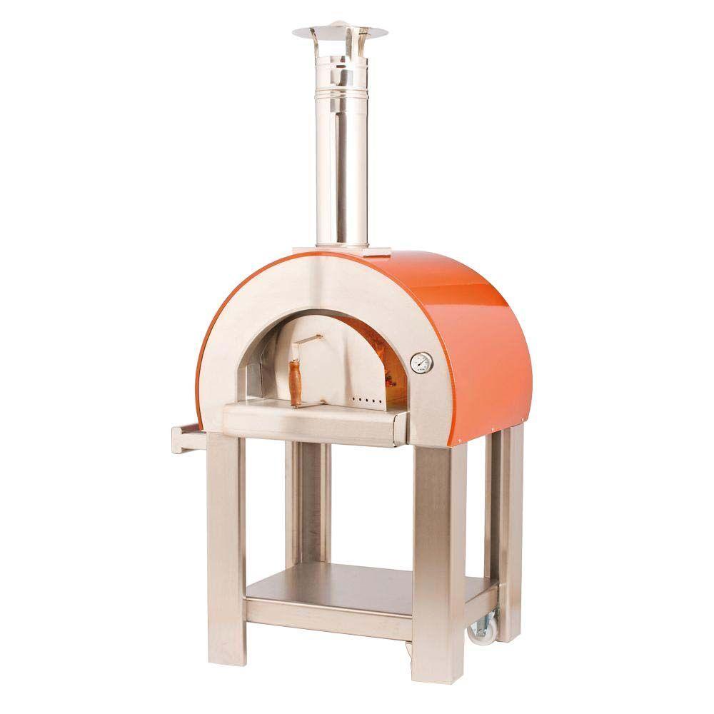 23.6 in. x 19.7 in. Outdoor Wood Burning Pizza Oven in Orange