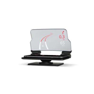 Universal Glass Head-Up Display for Cell Phone GPS with Car Dash Mount Holder and Cradle