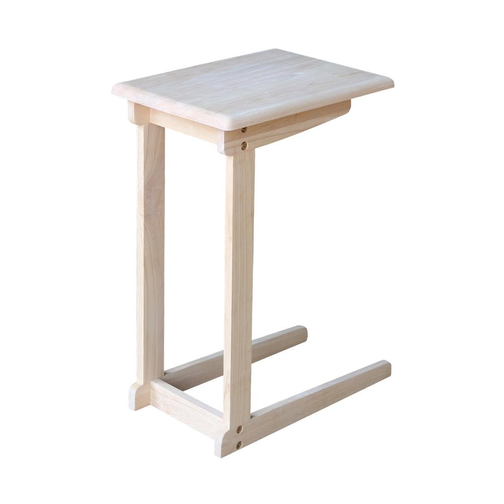 International concepts unfinished end table ot 10 the for Table th collapse