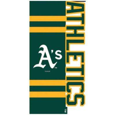 MLB 1 ft. x 1-1/2 ft. Nylon Oakland A's Sculpted Garden Flag