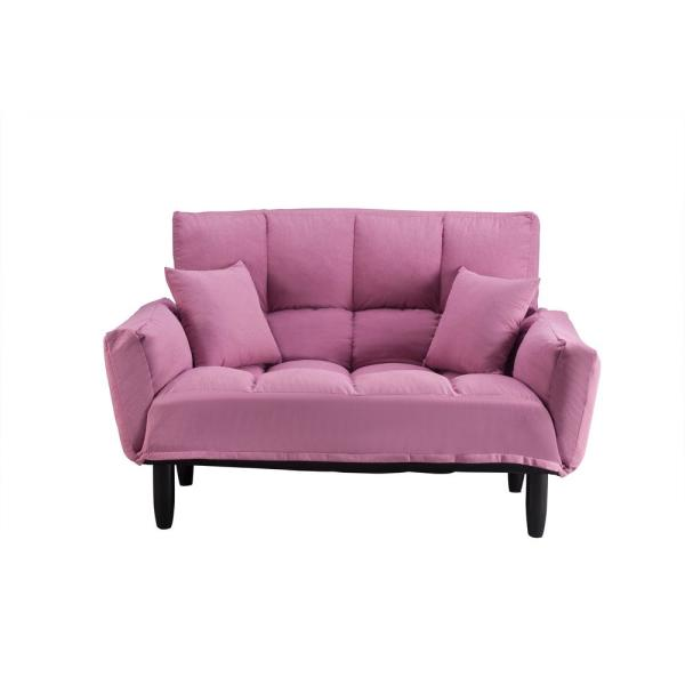 Harper Amp Bright Designs Pink Chic Loveseat Sleeper Sofa