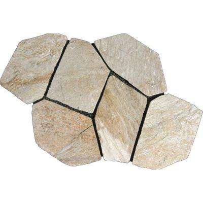 Golden White 22 in. x 18 in. Meshed Flagstone Paver Tile (40 Pieces / 110 Sq. ft. / Pallet)