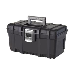 Husky 16 in. Plastic Tool Box with Metal Latch (1.6 mm) in Black-THD2015-03 - The Home Depot