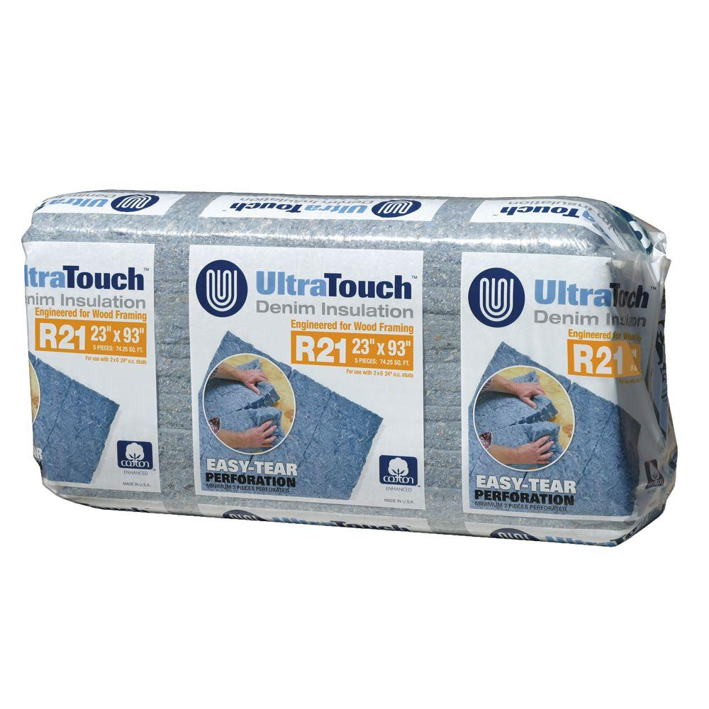 UltraTouch 23 in. x 93 in. R21 Denim Insulation (8-Bags)