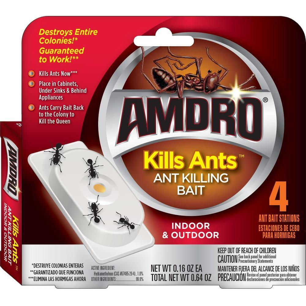 AMDRO Kills Ants Bait Station (4-Pack)