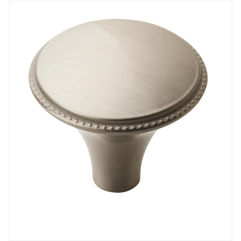 Atherly 1-1/4 in (32 mm) Diameter Satin Nickel Cabinet Knob