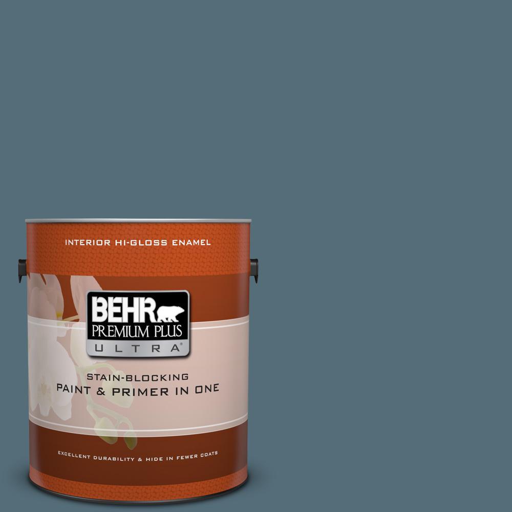 1 gal. #N480-6 Nypd Hi-Gloss Enamel Interior Paint