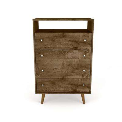 Liberty 4-Drawer Rustic Brown Dresser Chest