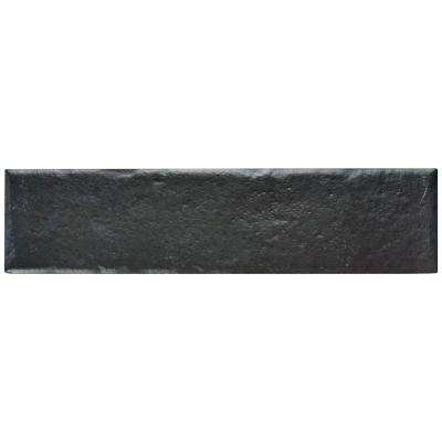 Brooklin Brick Black 2-3/8 in. x 9-1/2 in. Porcelain Floor and Wall Tile (6.04 sq. ft. / case)