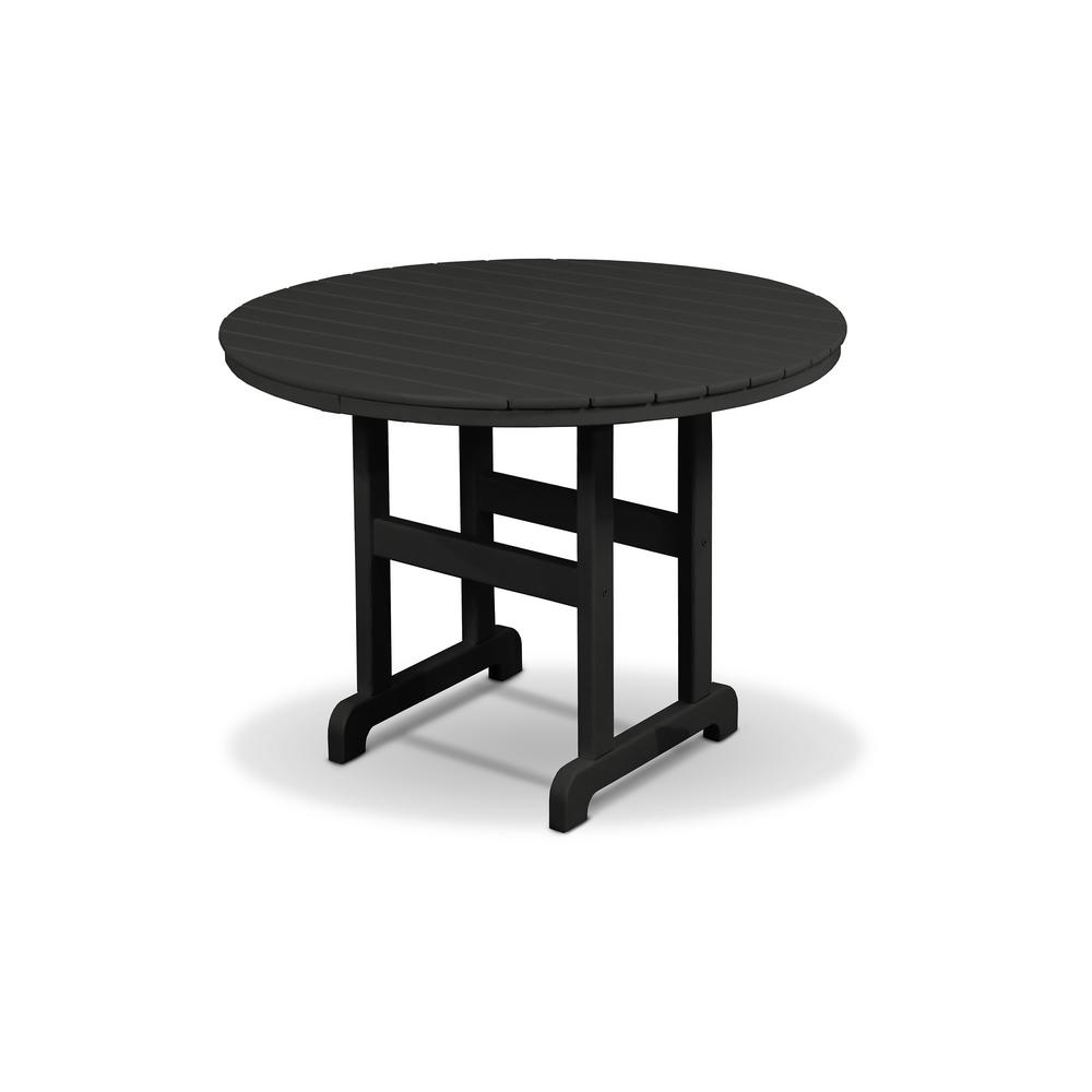 M D Furniture Wales 36 Round Dining Table And Chair Set Black Cherry Top 3 Piece From Houzz Bhg Com