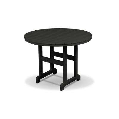 Monterey Bay 36 in. Charcoal Black Round Patio Dining Table