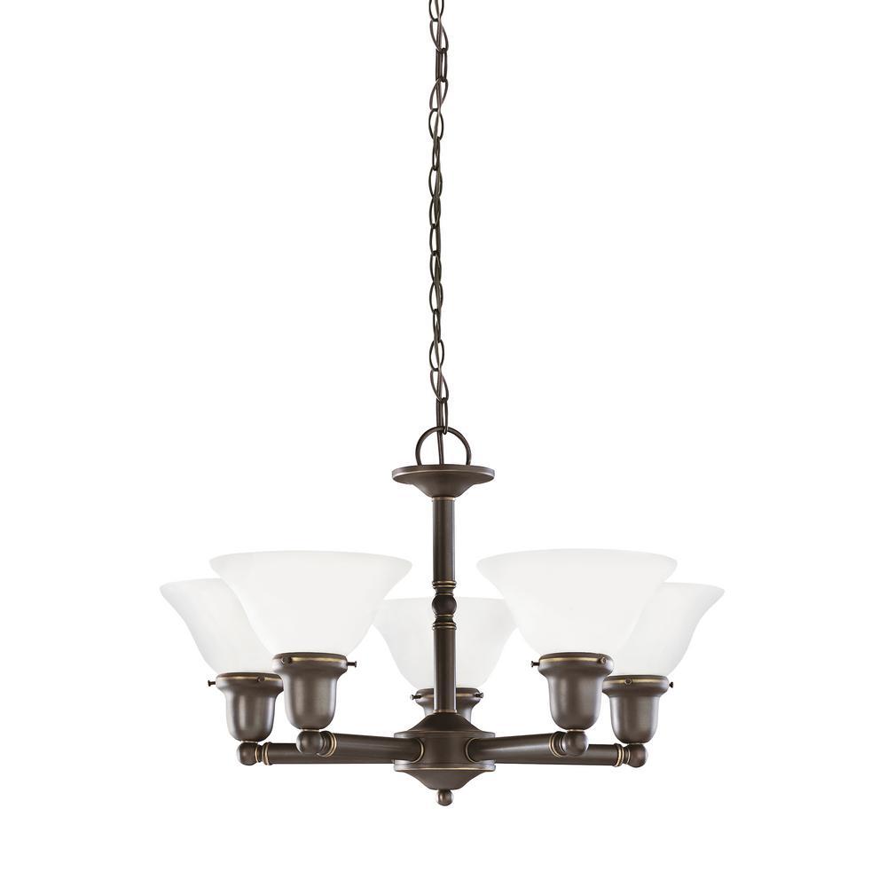 Sea gull lighting sussex 5 light heirloom bronze chandelier with led sea gull lighting sussex 5 light heirloom bronze chandelier with led bulbs aloadofball Image collections
