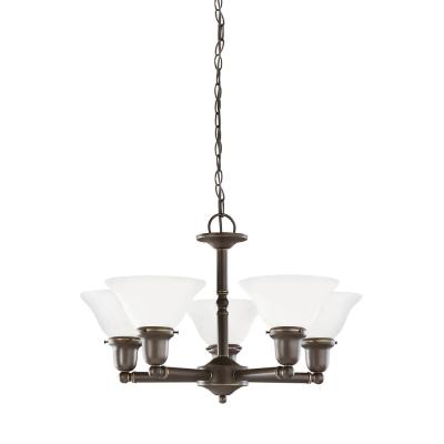 Sussex 5-Light Heirloom Bronze Chandelier with LED Bulbs