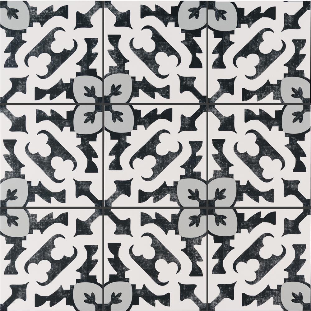 Brina Encaustic 8 in. x 8 in. Matte Porcelain Floor and Wall Tile (5.33 sq. ft. / case)
