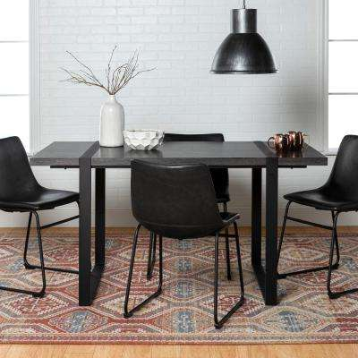Urban Blend 5-Piece Charcoal/Black Dining Set
